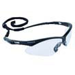 V30 Nemesis Safety Glasses, Black Frame, Clear Lens KCC25676