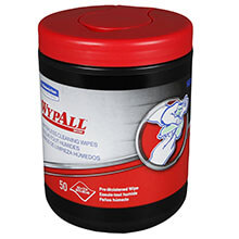 WYPALL Heavy-Duty Hand Cleaning Wipes, Green, 50/Canister KCC58310