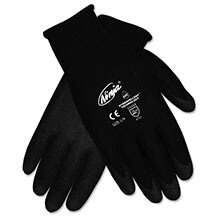 CRWN9699LPK  Ninja HPT PVC coated Black Nylon Gloves - Large - (12-Pack)