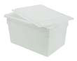 "Food/Tote Box Lid - 26"" x 18"" - White RCP3502WHI"