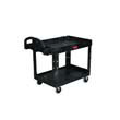 Heavy-Duty Utility Cart, 750-lb Cap., 2 Shelves, Black RCP4546-10BLA