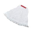 Super Stitch Rayon Mop Heads, Cotton/Synthetic, White, Large RCPD413