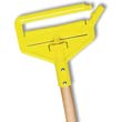 "Invader Wood Side-Gate Wet-Mop Handle, 54"", Natural/Yellow RCPH115"